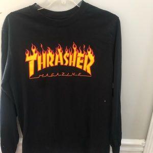 long sleeve thrasher shirt
